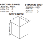 "Vent-A-Hood W7DCR12/41SS Removable Panel 41"" TALL DUCT COVER, FOR PDH7 WITH 9' CEILING"