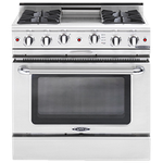 Capital CSB366L 36in Dual Fuel Range Stainless Steel