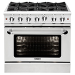 Capital MCOR364GN 36in Gas Range Stainless Steel