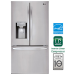 French Door Refrigerator LFXS28968S Wi-Fi Ice & Water 36in -LG