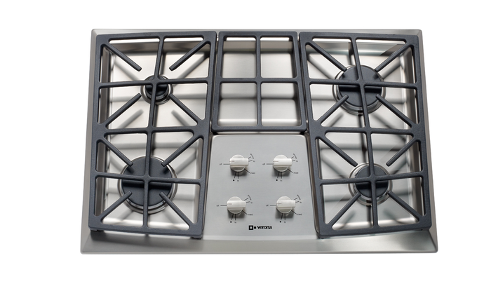 Verona VECTGV304SS 30in Gas Cooktop Stainless Steel