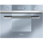 Electric Built-In Wall Oven SCU45VCS1 Steam Oven 24in -Smeg