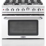Gas Range MCR366N 6 Sealed 19,000 BTUs Burners Convection Oven 36in -Capital