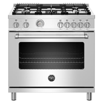 Dual Fuel Range MAST365DFMXE Sealed Burners Convection Oven 36in -Bertazzoni