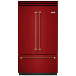 BlueStar BBBF361-RAL3003 36in French Door Refrigerator, Ruby Red