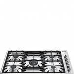 Gas Cooktop PGF95U3 Sealed Burner Built-In 36in -Smeg