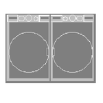 LG WM3270CW Washer and DLE3170W 27in Dryer Vented