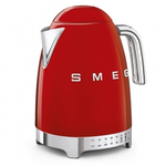 Smeg KLF04RDUS Retro 50's Style Variable Temp Kettle, Red