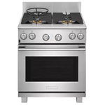 Electrolux Icon E30DF74TPS 30in Dual Fuel Range Stainless Steel