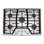 Gas Cooktop LCG3011ST Sealed Burner Built-In 30in -LG