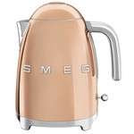 Smeg KLF03RGUS Retro 50's Style Fixed Temp Kettle, Rose Gold