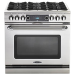 Capital COB366L 36in Dual Fuel Range Stainless Steel