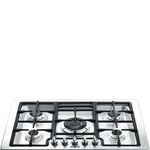 Gas Cooktop PGFU30X Sealed Burner Built-In 30in -Smeg