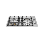 Gas Cooktop QB30400X Sealed Burners Built-In 30in -Bertazzoni