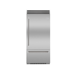 BlueStar BBB36L1 36in Bottom Freezer Refrigerator, Stainless Steel