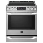 LG STUDIO LSIS3018SS Induction Slide-in Range Self Clean ProBake Convection