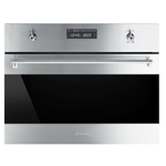 Electric Built-In Wall Oven SU45VCX1 Steam Oven 24in -Smeg