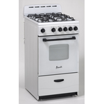 Gas Range GR2011CW Sealed Burner 20in -Avanti