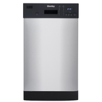 Dishwasher DDW1804EBSS Front Controls 18in -Danby