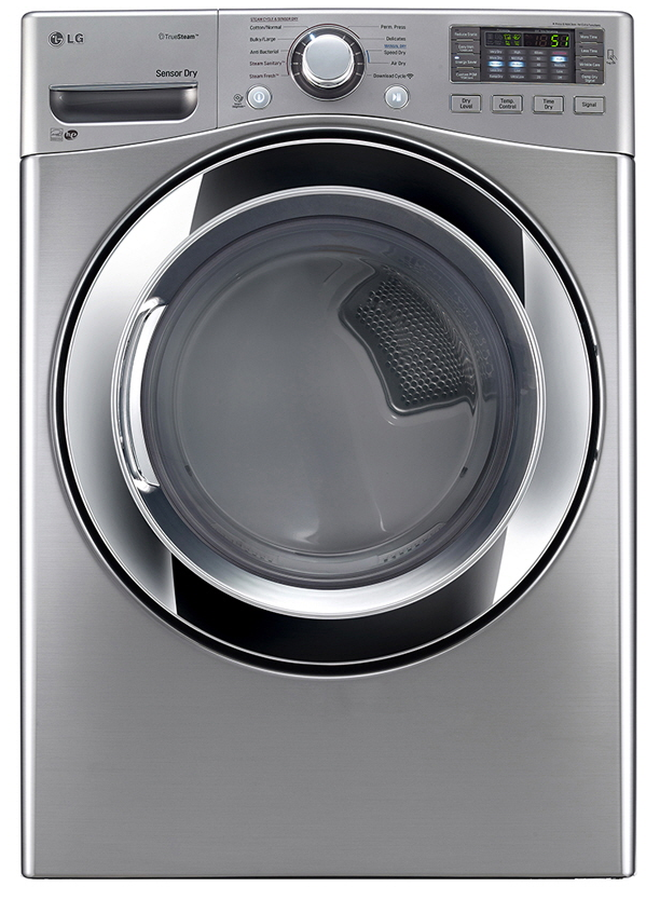 Electric Dryer DLEX3370V Front Load Steam 27in Discontinued -LG