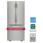 French Door Refrigerator LFNS22530S Energy Star CEE Tier III Certified 30in -LG