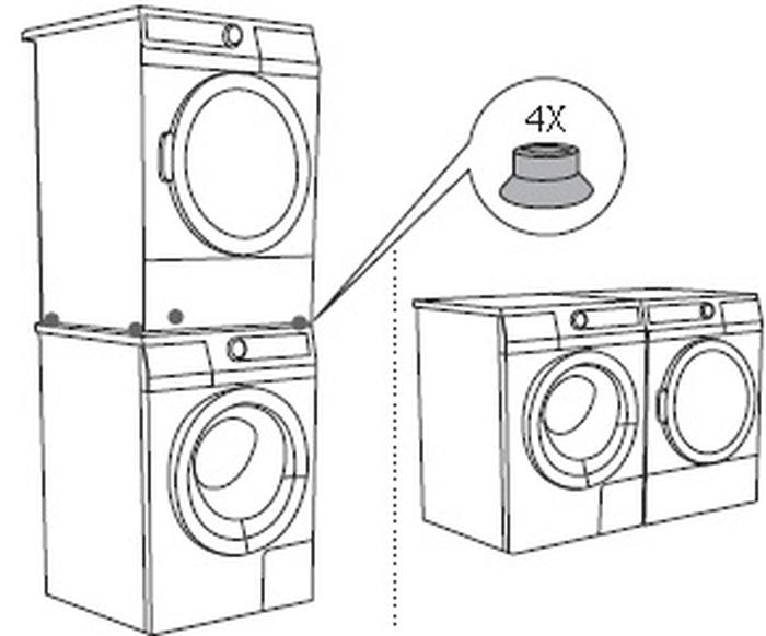 Gorenje Stackingkit Gornegie 24in Stacking Kit For Washer