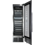 Wine Column Refrigerator CR24D14R 24in Dual Zone Glass Overlay Door-Perlick