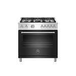 Dual Fuel Range MAST365DFMNEE Sealed Burner 36in -Bertazzoni