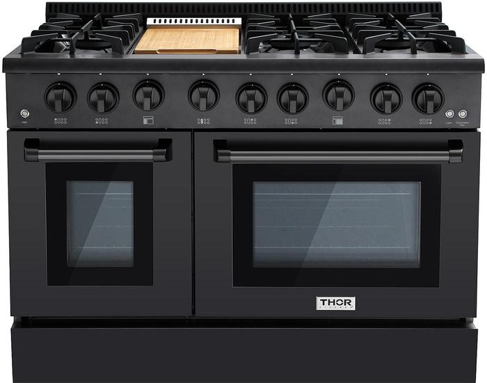 Gas Range Hrg4808bs Sealed Burner 48in Thor Kitchen Aniksappliances