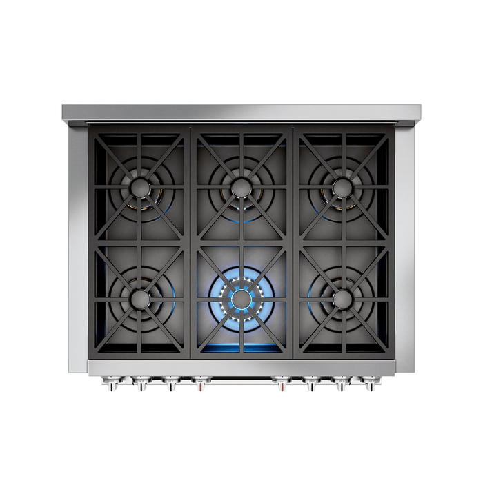 Gas Range F4PGR366S1  Sealed Burner 36in -Fulgor Milano